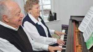 Two residents enjoying activities at our Concord retirement community