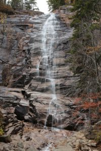 Picture of a waterfalls to visit in New Hampshire