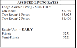 Assisted Living Community Price Sheet in Concord, NH | Costs for one and two bedroom homes at our assisted living facility