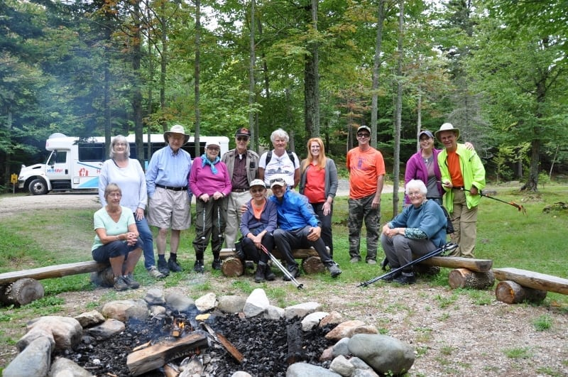 Havenwood Heritage Heights senior living residents in a New Hampshire state park