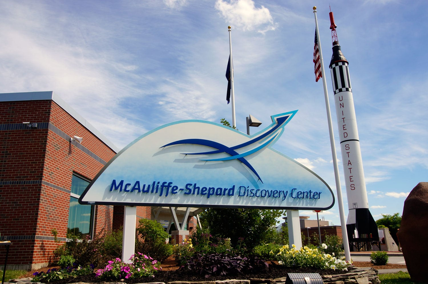 The McAuliffe-Shepard Discovery Center, a science museum located at 2 Institute Dr, Concord, NH