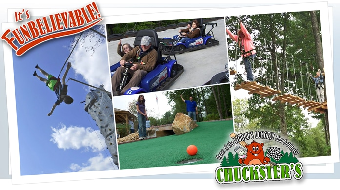 Chucksters Family Fun Park Chichester New Hampshire